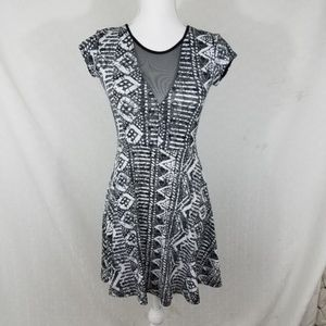 urban outfitters skater mesh dress tribal alone xs